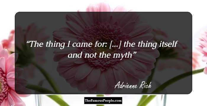 adrienne rich diving into the The adrienne rich's poetry and prose community note includes chapter-by-chapter summary and  diving into the wreck was awarded the national book award, .