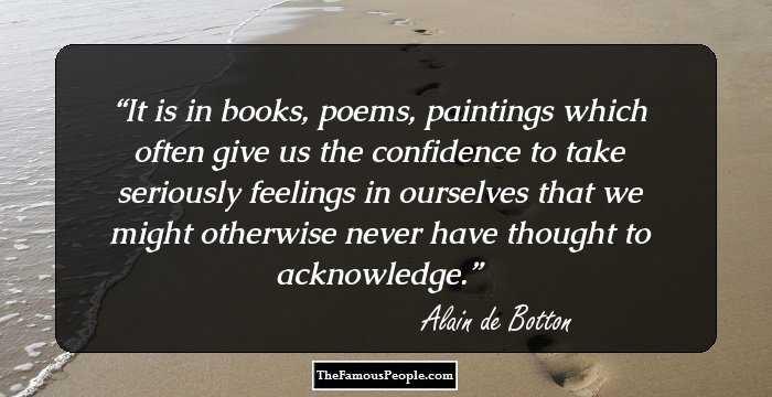 Essays in love alain de botton quotes