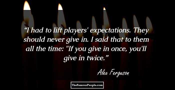 alex ferguson management quotes