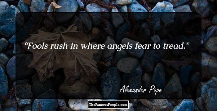 Fools Rush In Where Angels Fear To Tread Essay Help