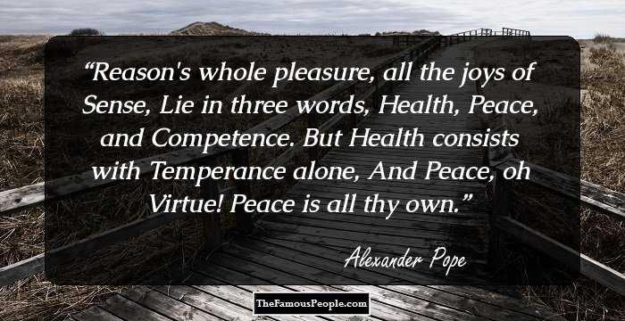 An Essay On Man Alexander Pope Summary