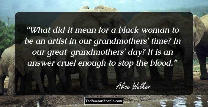 a struggle of self expression in the color purple by alice walker Finally, she forgives truman, gains a new sense of herself, and decides that her  obligation to the struggle for justice is to live and to keep alive the old songs of all walker's books prior to the color purple( 1982) foreshadow the novel's issues of racism and sexism, pull together the author's main ideas about women's life.