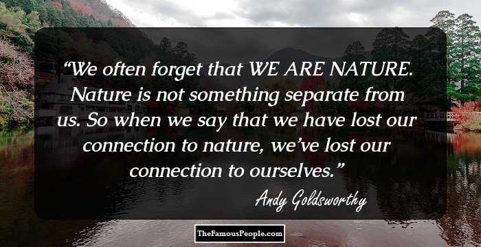 andy goldsworthys biography Andy goldsworthy seems to want to bring the feel and awareness of energy into his pieces in a short biography he mentions,.