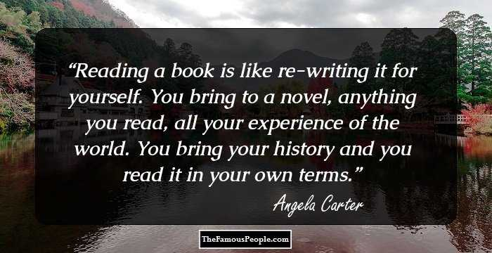 100 Top Quotes By Angela Carter The Author Of The Bloody Chamber