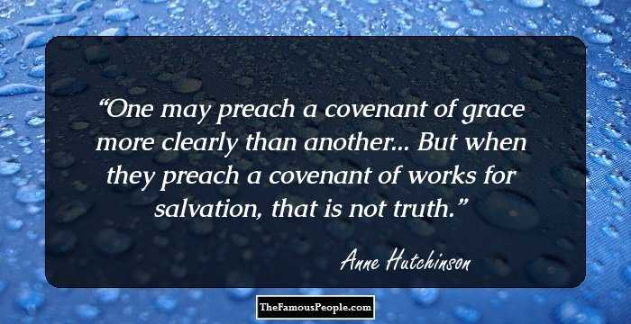 Anne Hutchinson on education quotes