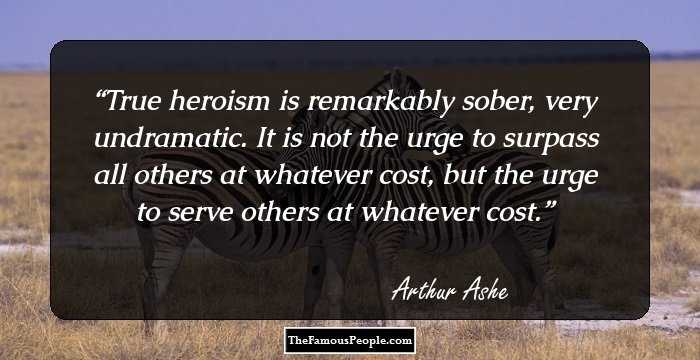 Sports Life Quotes Best 38 Top Quotesarthur Ashe On Life Sports & More