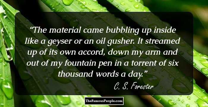 11 C S Forester Quotes Worth Knowing