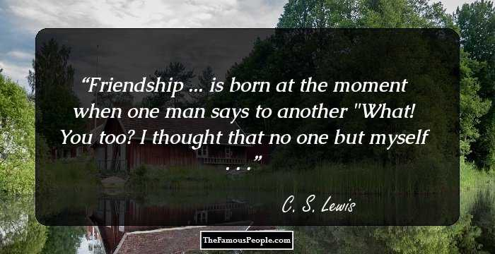 Cs Lewis Quote About Friendship Interesting 100 Awesome Quotesc.s Lewis One Of The Most Quoted Authors On
