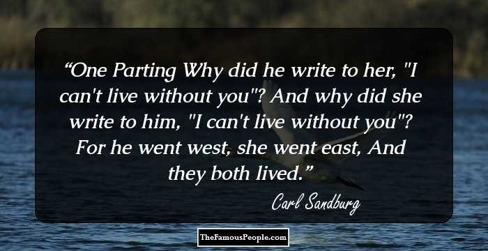 88 Inspiring Quotes By Carl Sandburg