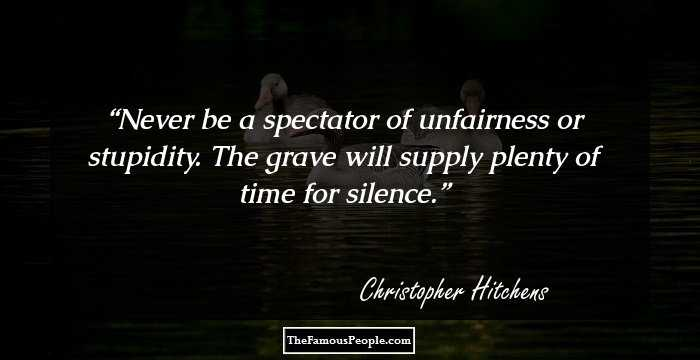 99 Inspirational Quotes By Christopher Hitchens That ...