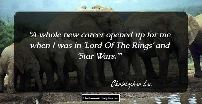 meaningful quotes by christopher lee