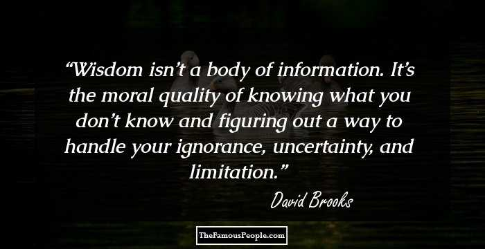44 Top David Brooks Quotes That Will Amplify Your Proficiency On ...
