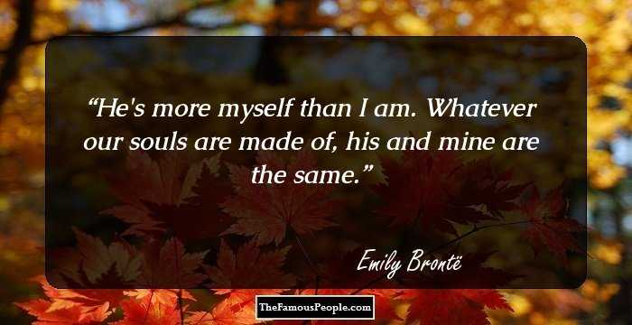 inspirational quotes by emily bronte the author of wuthering