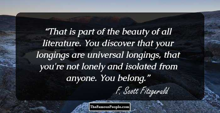 Love Quotes F Scott Fitzgerald Prepossessing 100 Best Quotesfscott Fitzgerald The Author Of The Great Gatsby