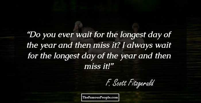 100 Best Quotes by F. Scott Fitzgerald, The Author of The ...