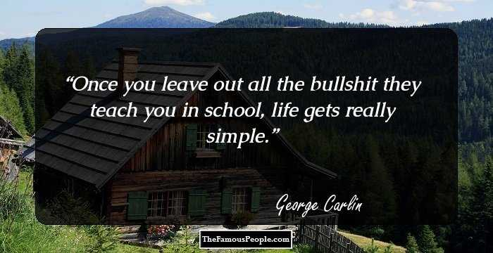 100 Inspiring Quotes By George Carlin That Every Human Being ...