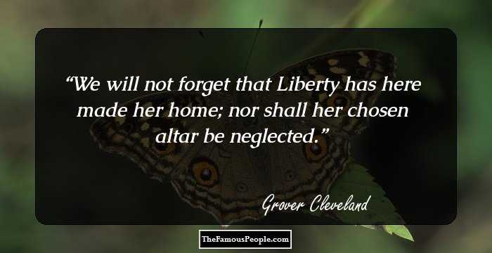 9 Top Grover Cleveland Quotes That You Should Not Miss