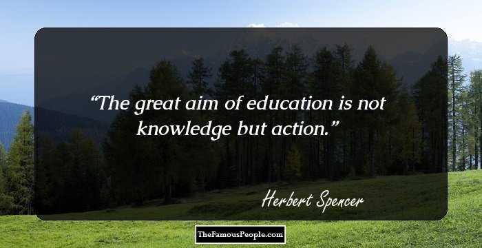 herbert spencer contribution to education