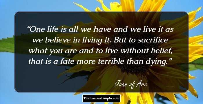 55 Inspiring Quotes By Joan Of Arc For The Brave Hearts