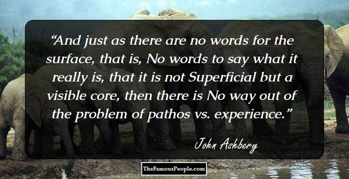 91 Interesting Quotes By John Ashbery That Will Inspire The Metricists