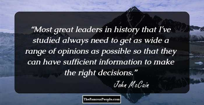 140 Interesting Quotes By John Mccain