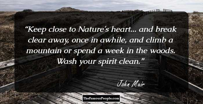 28 Motivational John Muir Quotes For Alpinists Wanderers And Nature