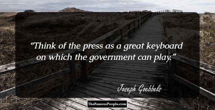 Image result for joseph goebbels quotes