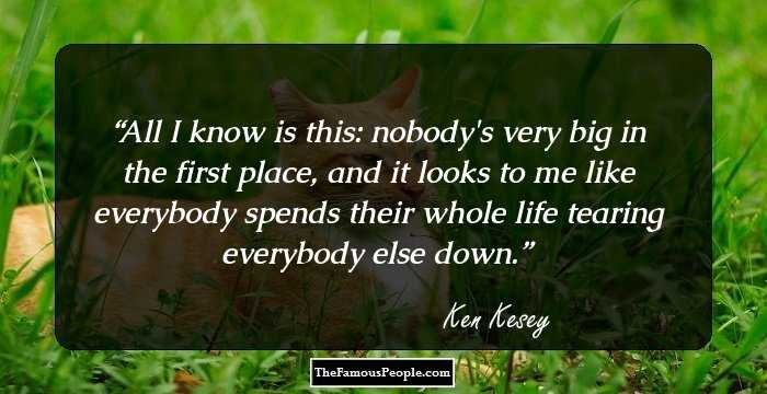 the life and works of ken kesey Sometimes a great notion ken kesey one of the few guarantees you will ever find in life is that ken kesey will forever be best known for writing one flew over the.
