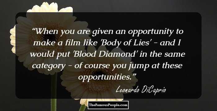 Leonardo Dicaprio Quotes On Love