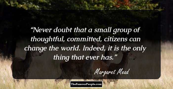 35 pretty awesome margaret mead quotes sayings