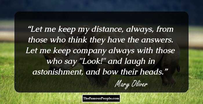98 Mary Oliver Quotes To Refresh You