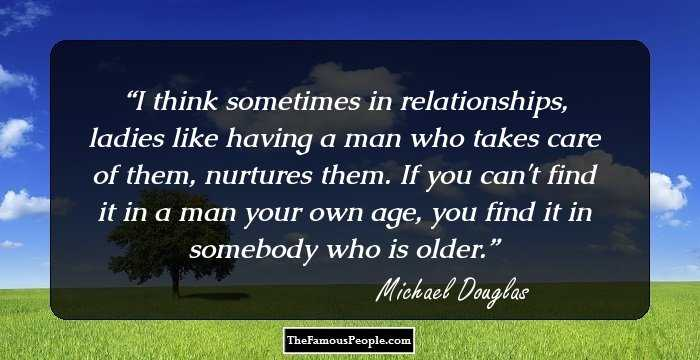 155 Top Quotes By Michael Douglas On Marriage Love Family Cancer