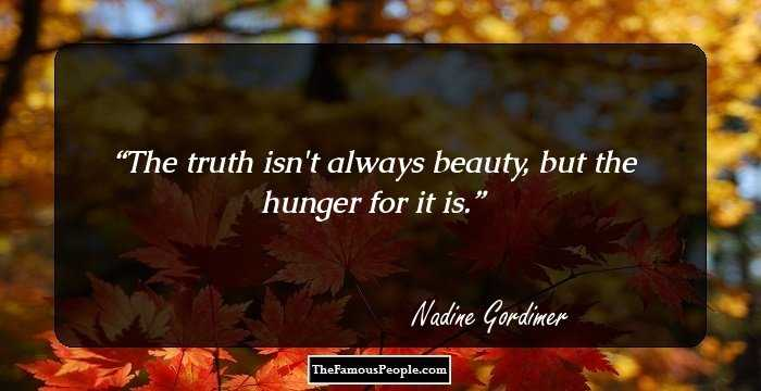 40 Thought Provoking Quotes By Nobel Laureate Nadine Gordimer To Live By