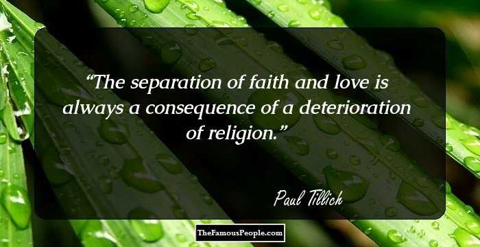an analysis of faith of paul tillich Paul tillich defined faith as the state of being ultimately concerned the dynamics of faith, therefore, are the dynamics of being ultimately concerned tillich distinguishes between true faith and idolatrous faith in true faith, he asserts, the ultimate concern is a concern about the truly intimate  an awareness of holiness.