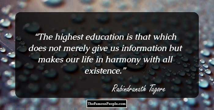 99 Motivational Quotes By Rabindranath Tagore, The Author Of