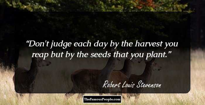 A stone tablet honors author Robert Louis Stevenson