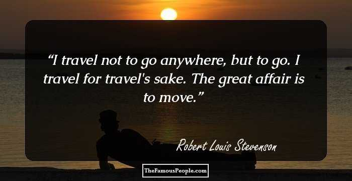 Robert Louis Stevenson   Wikipedia The travelogue prepares the reader for the next great lifestep of Stevenson   the South Seas     where I was to recover peace of body and moral