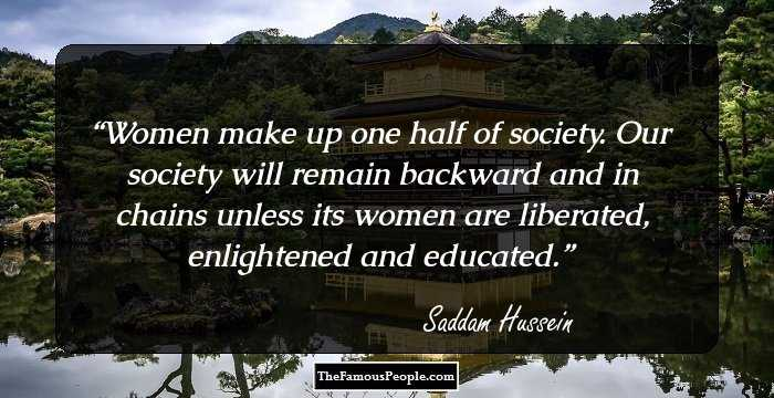 an introduction to the life of saddam hussein Saddam hussein, also spelled ṣaddām ḥusayn, in full saddam hussein al-tikriti , (born april 28, 1937, al-ʿawjah, iraq—died december 30,.