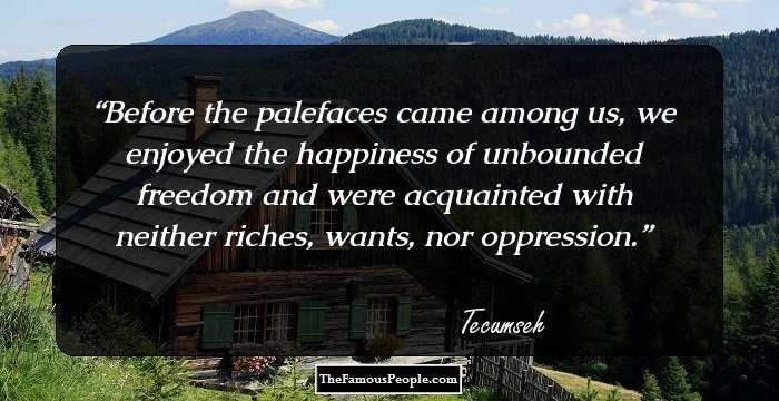 37 Notable Quotes By Tecumseh That Will Instil A Never Say