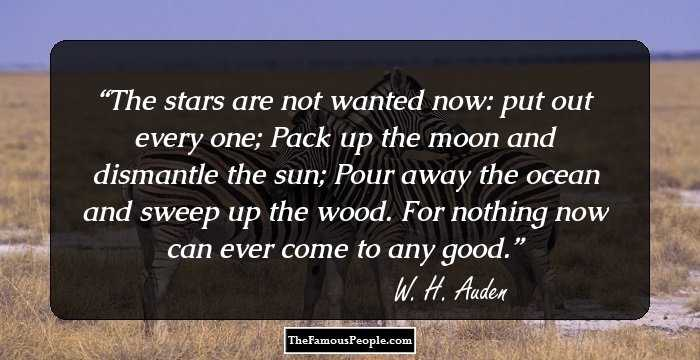 83 Great Quotes By W. H. Auden