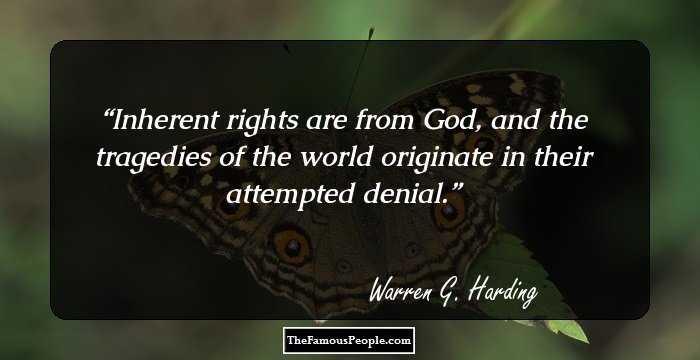 Life Portrait of Warren G. Harding